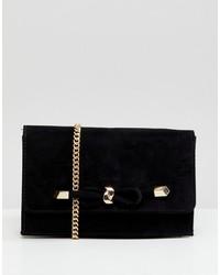 Carvela Kupid Suedette Bag With Knot Detail Clasp