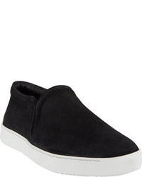 Black Suede Slip-on Sneakers