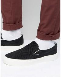 Classic slip on sneakers in braided suede medium 3706576