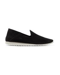 Pedro Garcia Cristiane Perforated Suede Slip On Sneakers