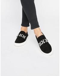 Carvela Jewelled Slip On Flatform Sneakers