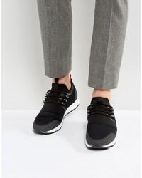 Hugo Boss Hugo By Neoprene Suede And Elastic Detail Sneakers Black