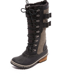 Black Suede Snow Boots