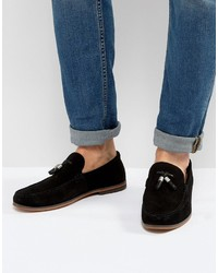 Loafers in black suede with tassels medium 4418946