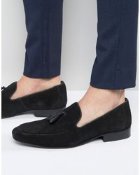 Tassel loafers in black suede medium 836639