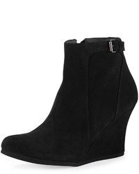 Lanvin Suede Wedge Ankle Boot Black