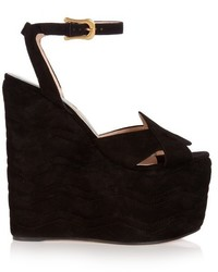 Sally suede wedge sandals medium 833082