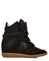 Isabel marant toile beckett high top suede wedge trainers medium 328431