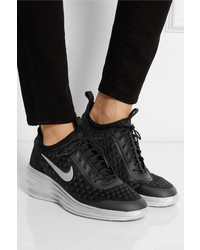 official photos e3abe d6e4a ... Nike Lunarelite Sky Hi Canvas And Suede Wedge Sneakers ...