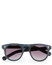 Topman 47mm Round Plastic Sunglasses Black