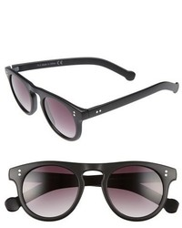 Topman 47mm Round Plastic Sunglasses Black
