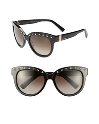 Valentino 54mm Sunglasses Black One Size