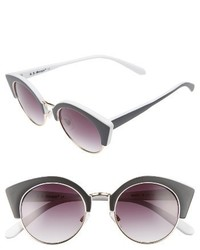 Aj Morgan Temple 50mm Sunglasses Black White