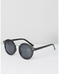Pieces Black Round Sunglasses
