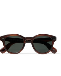 Oliver Peoples Cary Grant Round Frame Tortoiseshell Acetate Polarised Sunglasses