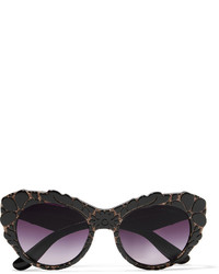 Dolce & Gabbana Cat Eye Appliqud Acetate Sunglasses