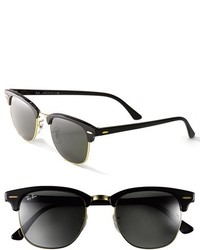 Ray-Ban Clubmaster 49mm Sunglasses Black Gold
