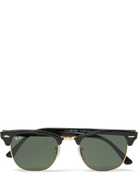 Ray-Ban Clubmaster Square Frame Acetate And Gold Tone Sunglasses