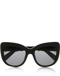 Dolce & Gabbana Embellished Cat Eye Acetate Sunglasses