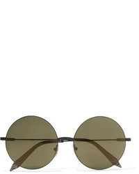 138e18dc6 ... Victoria Beckham Feather Round Stainless Steel And Acetate Sunglasses  Black