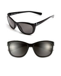 Nike Gaze 58mm Sunglasses Black One Size