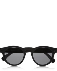 Leonard round frame acetate sunglasses black medium 154770