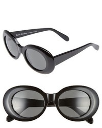 Acne Studios Mustang 47mm Oval Sunglasses Black