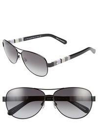 Kate Spade New York Dalia 58mm Aviator Sunglasses Rose Gold