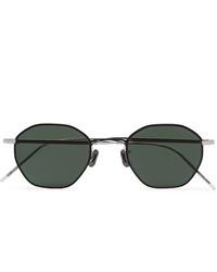 Eyevan 7285 Octagonal Frame Gunmetal And Silver Tone Sunglasses