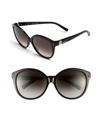 Valentino Oversized Sunglasses Black One Size