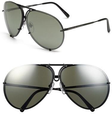 dccba65dbfb5 ... Porsche Design P8478 69mm Aviator Sunglasses Black Matte ...