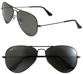 95dd7bdf87 ... uk ray ban polarized original aviator 58mm sunglasses df88f 8b2ab