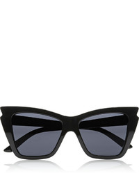 Le Specs Rapture Cat Eye Acetate Sunglasses Black