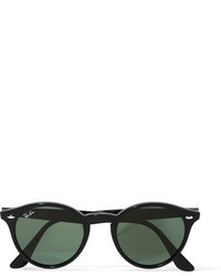 Ray-Ban Round Frame Acetate Sunglasses Black