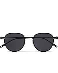 Montblanc Round Frame Metal Sunglasses