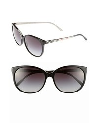 Burberry Spark 55mm Sunglasses Black One Size