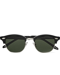 CUTLER AND GROSS Square Frame Acetate And Silver Tone Sunglasses