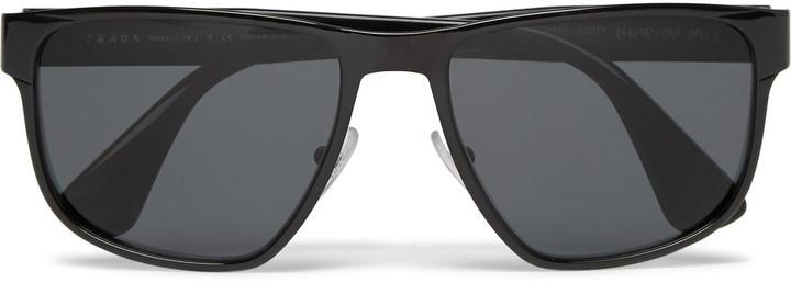 1f20e00a97b ... Prada Square Frame Metal And Acetate Polarised Sunglasses ...