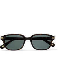Brioni Square Frame Tortoiseshell Acetate And Gold Tone Sunglasses