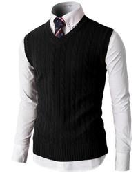 Black Sweater Vest