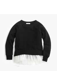 J.Crew Girls Tulle Hem Sweatshirt