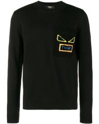 Fendi Think Shearling Pocket Sweatshirt