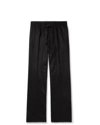 Undercover Black Wide Leg Cashmere Drawstring Trousers