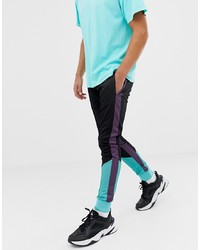 Night Addict Panelled Retro Skinny Fit Joggers