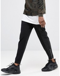 Asos Skinny Joggers With Cut Sew Zips