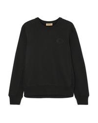 Burberry Appliqud Cotton Jersey Sweatshirt