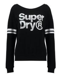 Superdry Fashion Off Shoulder Sweatshirt Black