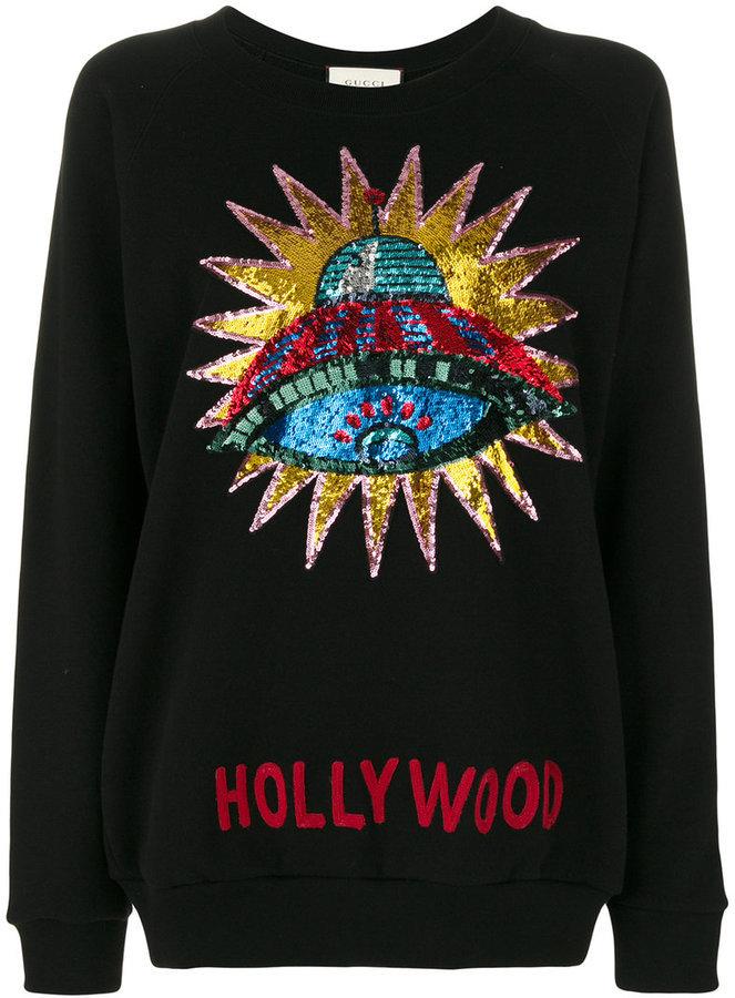 cccc013b122 ... Gucci Sequin Embellished Hollywood Sweatshirt ...
