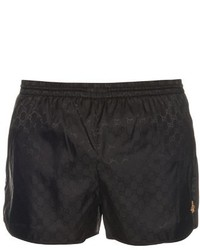 Gucci Logo Print Swim Shorts