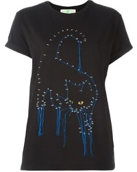 Stella McCartney Stitched Cat T Shirt